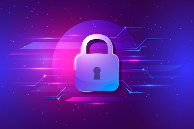 Conceito de segurança cibernética Vetor grátis