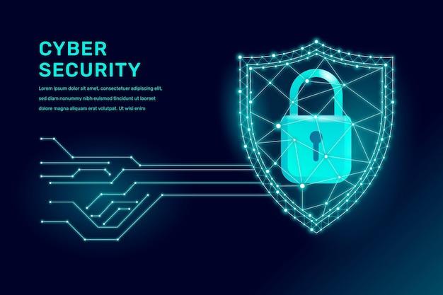 Conceito de segurança cibernética Vetor Premium