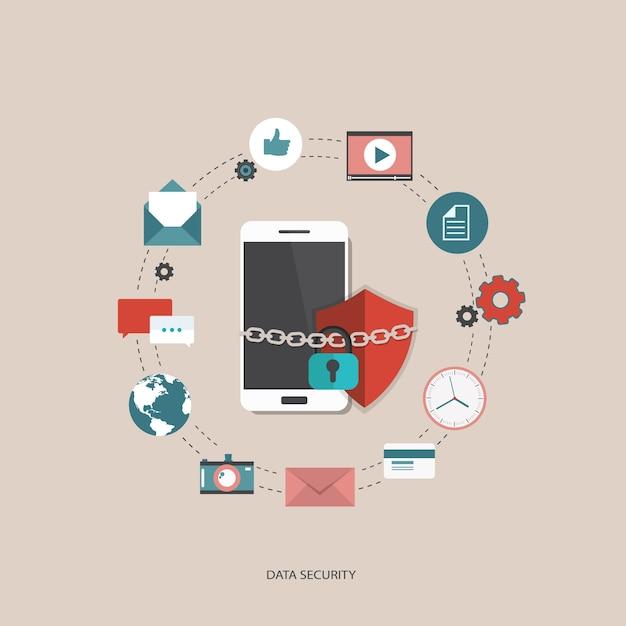 Conceito de segurança de dados Vetor grátis