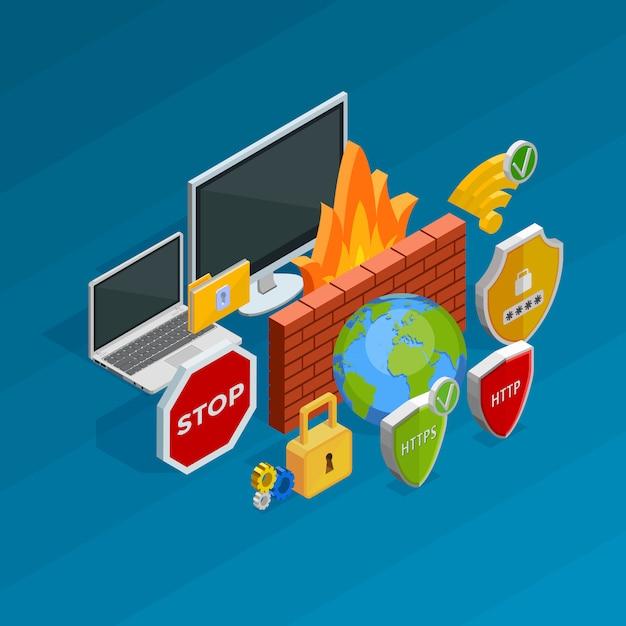 Conceito de segurança na internet Vetor grátis