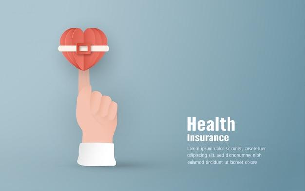 Conceito de seguro de saúde. Vetor Premium