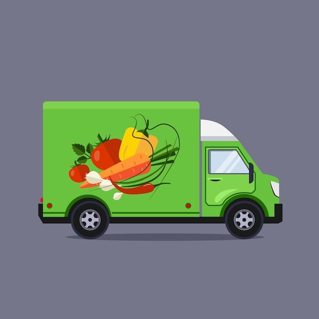Conceito de serviço de entrega de ilustração de estilo simples Vetor Premium