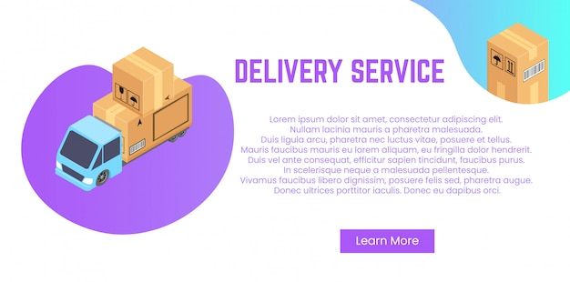 Conceito de serviço de entrega. pilha de caixas para envio, realocação. Vetor Premium