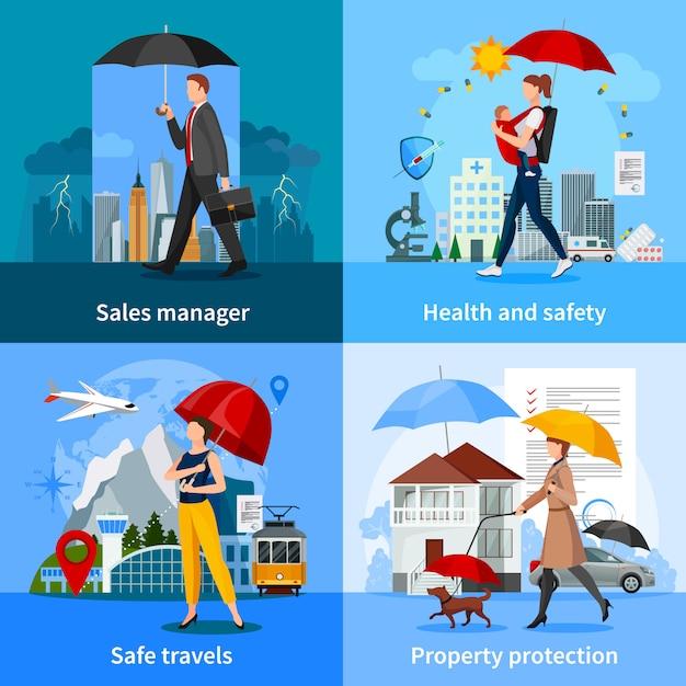 Conceito de serviços de seguros Vetor grátis