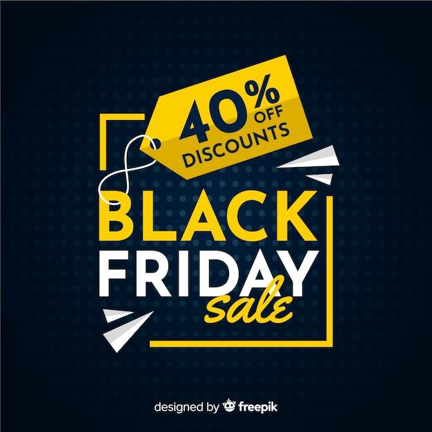 Conceito de sexta-feira negra com fundo design plano Vetor Premium