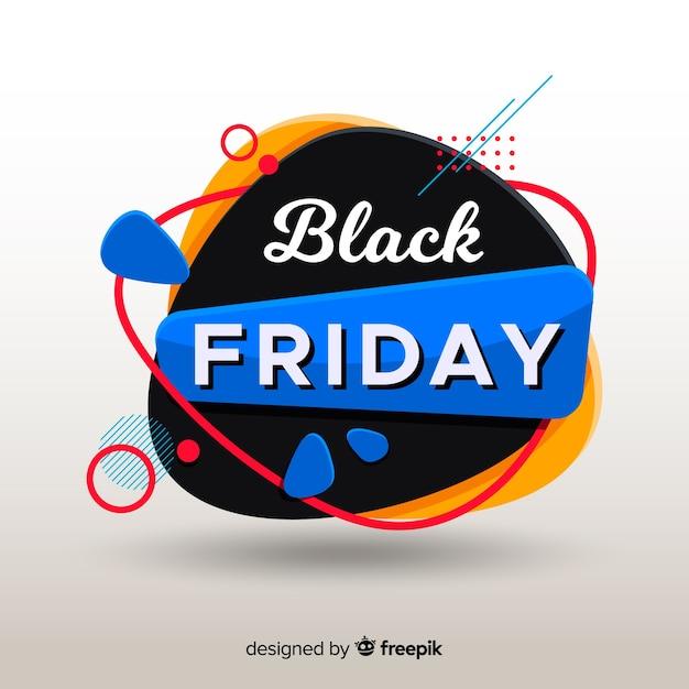Conceito de sexta-feira negra com fundo design plano Vetor grátis