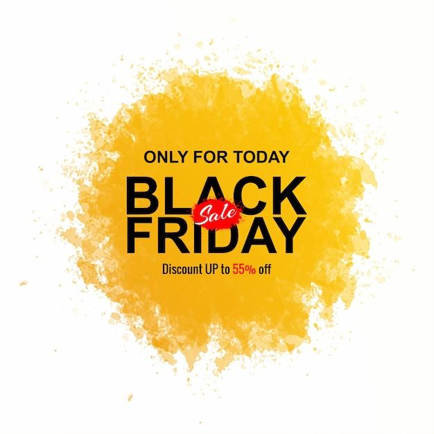 Conceito de sexta-feira negra com respingos de aquarela Vetor grátis