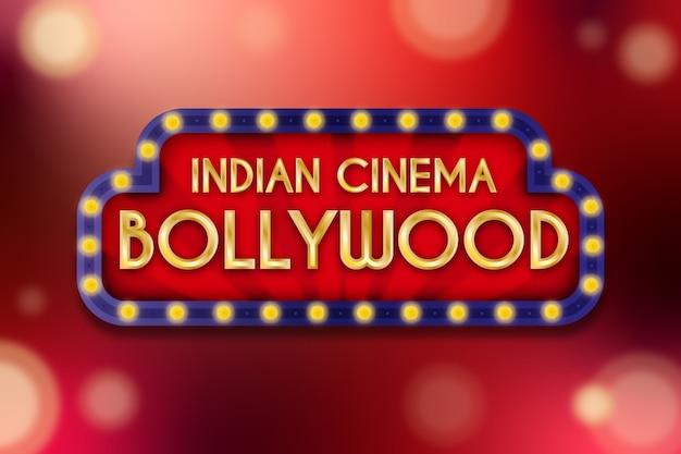 Conceito de sinal de cinema de bollywood realista Vetor grátis
