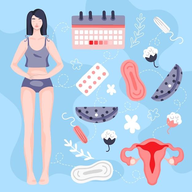 Conceito de sistema reprodutivo feminino Vetor grátis