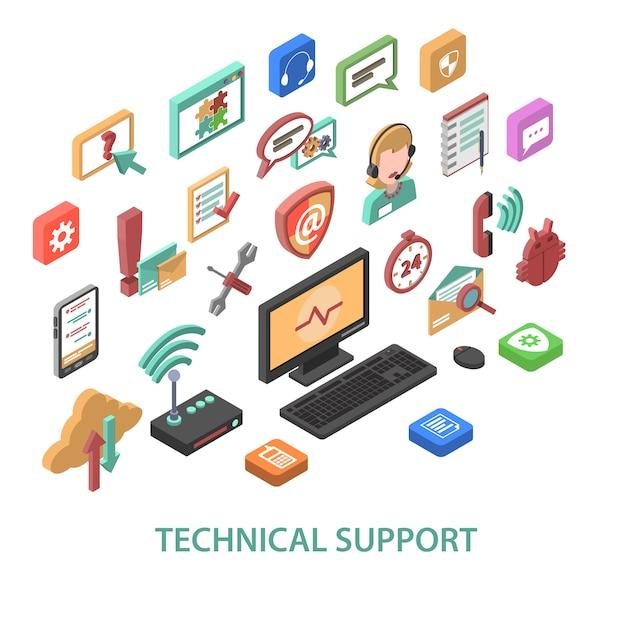 Conceito de suporte técnico Vetor grátis