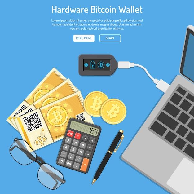 Conceito de tecnologia bitcoin moeda cripto Vetor Premium