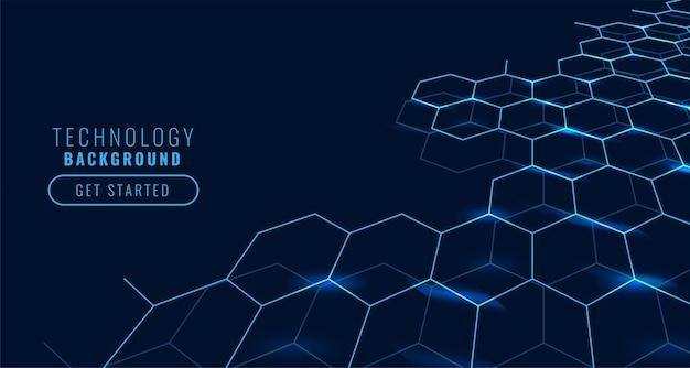 Conceito de tecnologia com formas hexagonais Vetor grátis