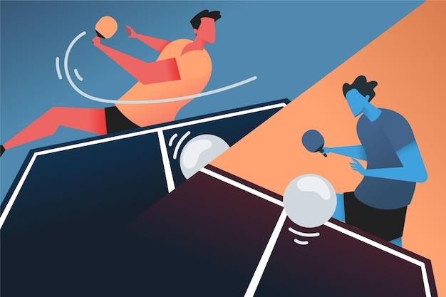 Conceito de tênis de mesa Vetor grátis