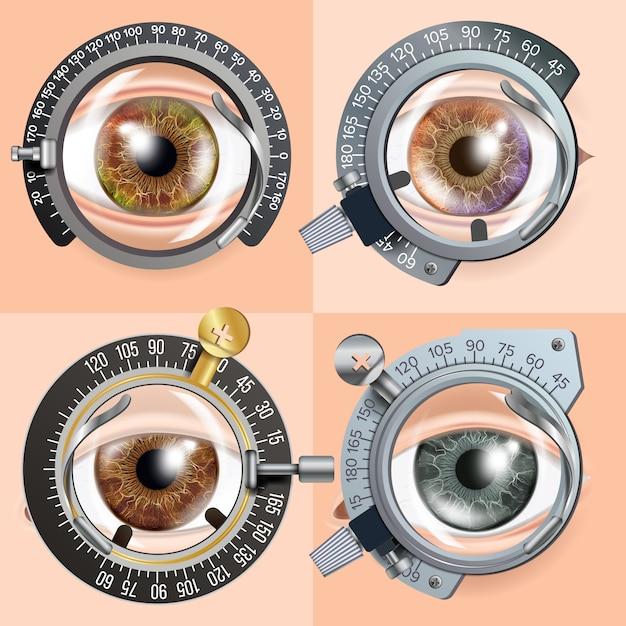 Conceito de teste de olho Vetor Premium