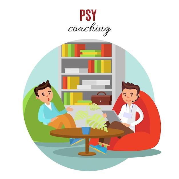 Conceito de treinamento psicológico colorido Vetor grátis