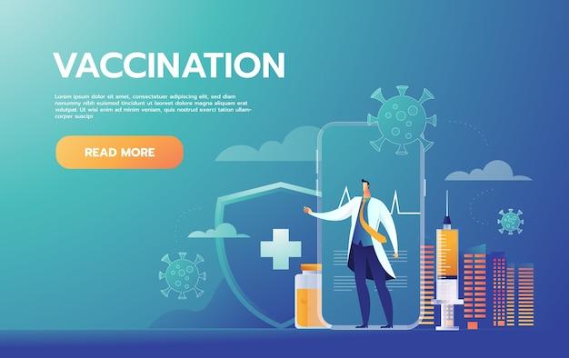 Conceito de vacinação. campanha de imunização. Vetor grátis