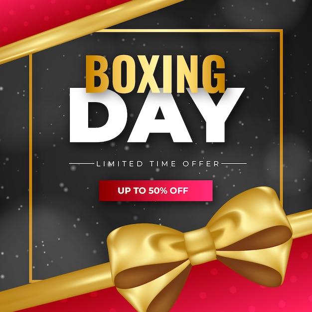 Conceito de venda realista dia de boxe Vetor grátis