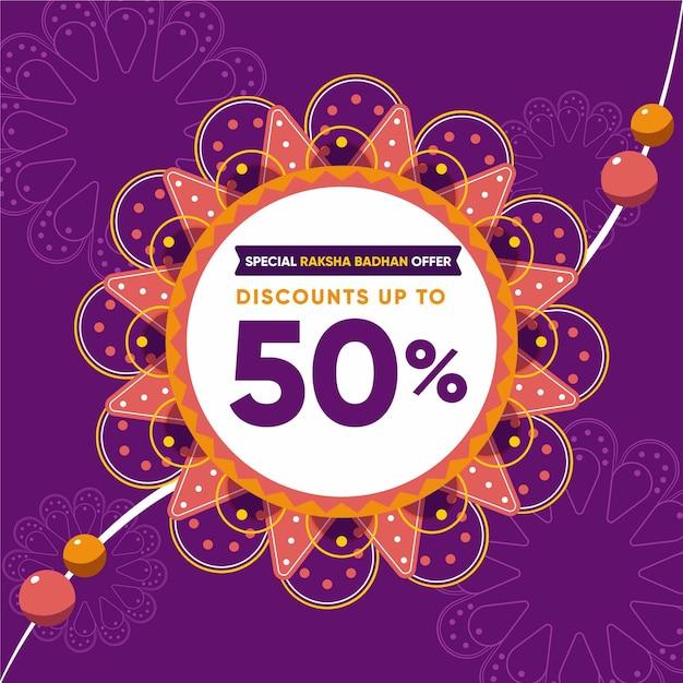 Conceito de vendas plana raksha bandhan Vetor grátis