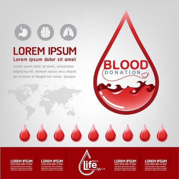 Conceito de vetor de doação de sangue - hospital para começar a vida nova novamente Vetor Premium