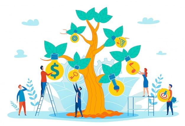 Conceito de vetor plana crescente sucesso pessoal Vetor Premium