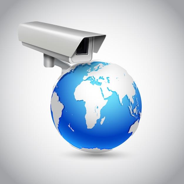 Conceito de vigilância global Vetor grátis