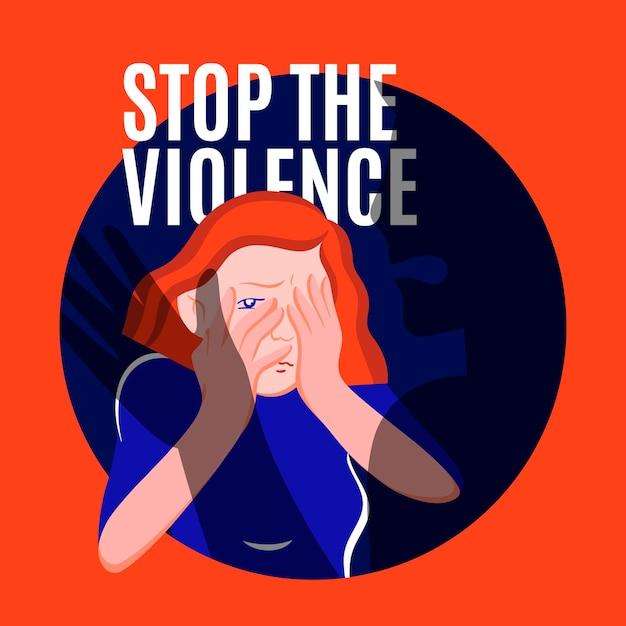 Conceito de violência de gênero Vetor grátis