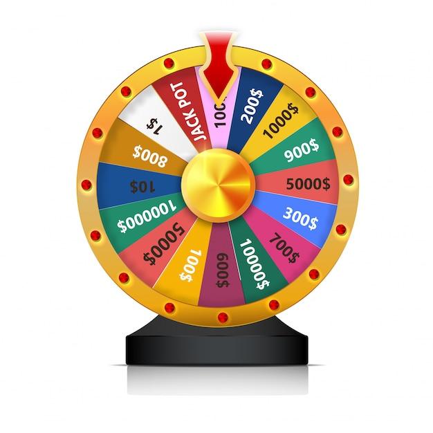 Conceito de vitória na loteria Vetor Premium