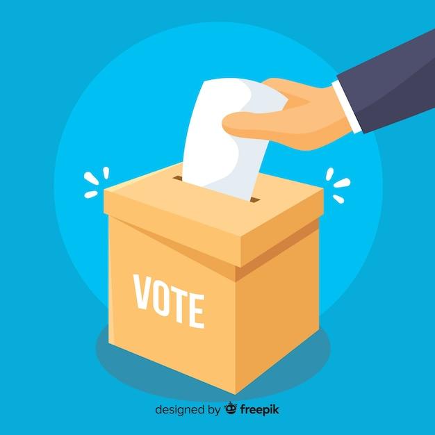 Conceito de votação e eleição Vetor grátis