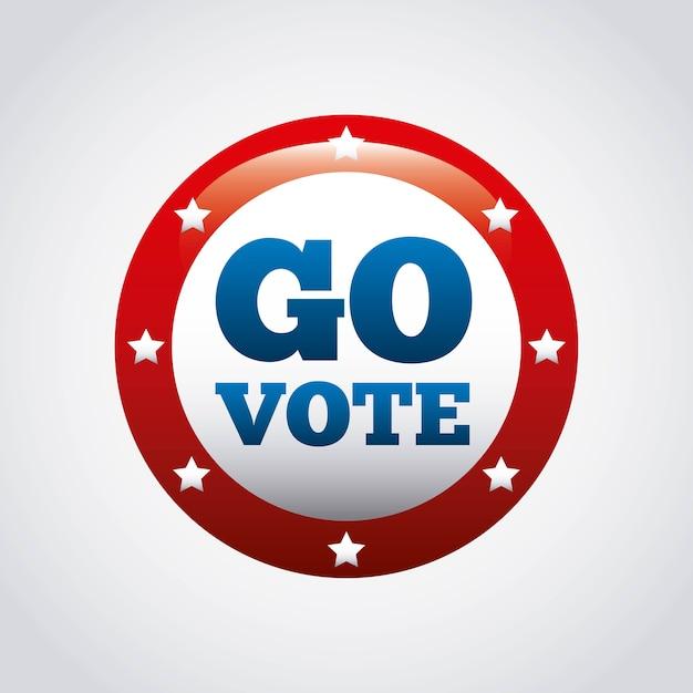 Conceito de voto presidencial dos eua Vetor Premium