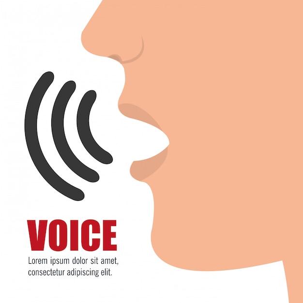 Conceito de voz Vetor grátis