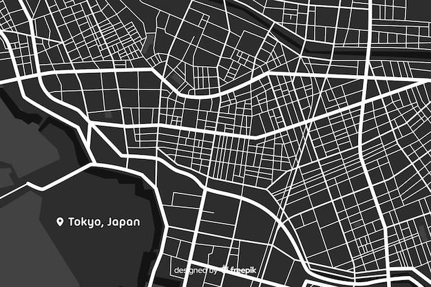 Conceito detalhado do mapa da cidade digital Vetor grátis