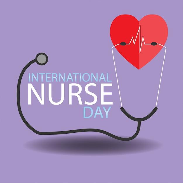 Conceito dia internacional da enfermeira. Vetor Premium