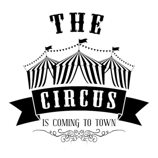 Conceito do circo com projeto do ícone do carnaval, gráfico do eps da ilustração 10 do vetor. Vetor Premium