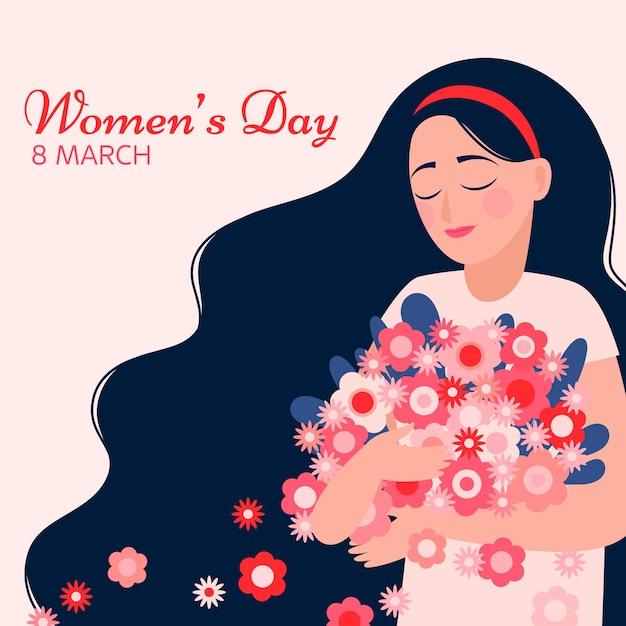 Conceito do dia da mulher colorida Vetor grátis
