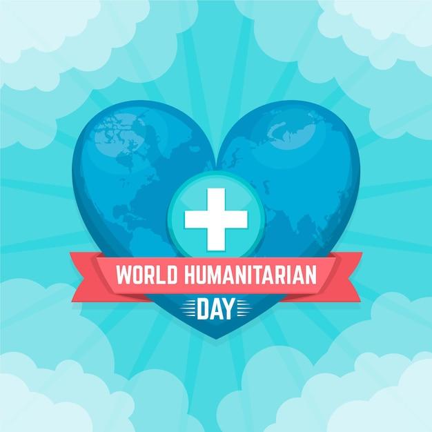 Conceito do dia humanitário mundial Vetor grátis