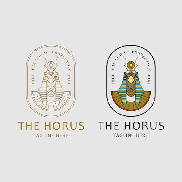 Conceito do logotipo de horus Vetor Premium