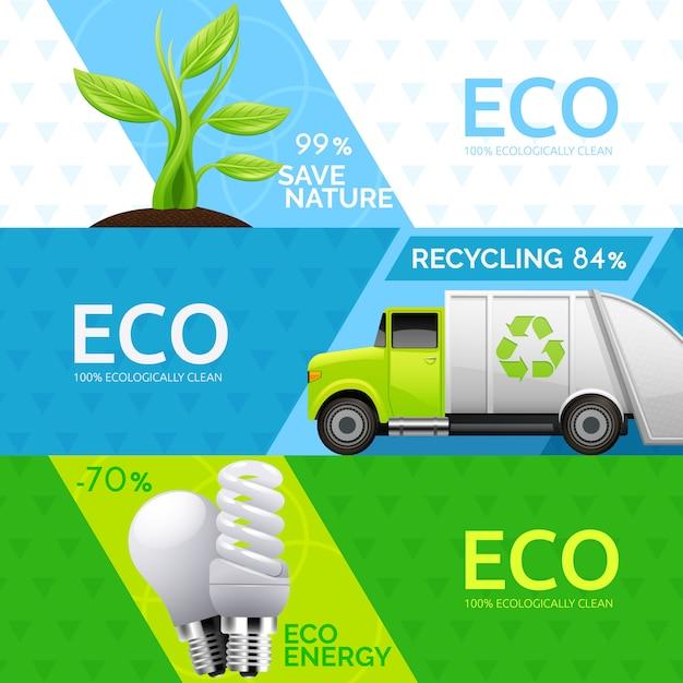 Conceito ecológico de fonte de energia verde Vetor grátis