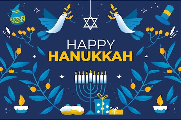 Conceito hanukkah desenhado à mão Vetor grátis