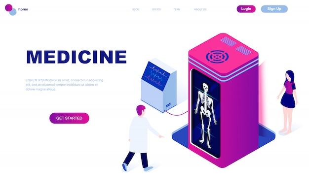 Conceito isométrico moderno design plano de medicina Vetor Premium