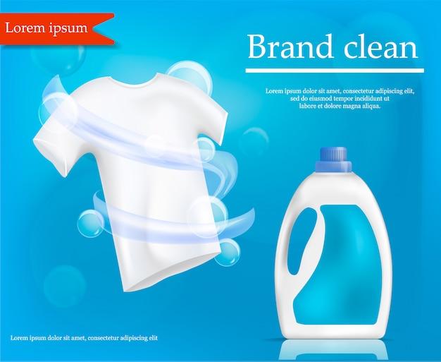 Conceito limpo de marca, estilo realista Vetor Premium