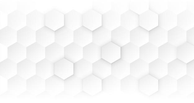 Conceito médico hexagonal branco limpo Vetor grátis