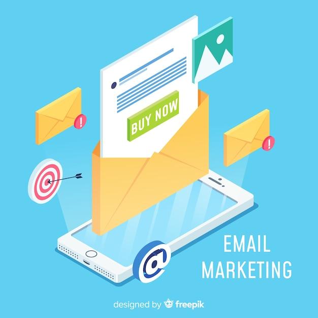 Conceito moderno de marketing por e-mail Vetor grátis