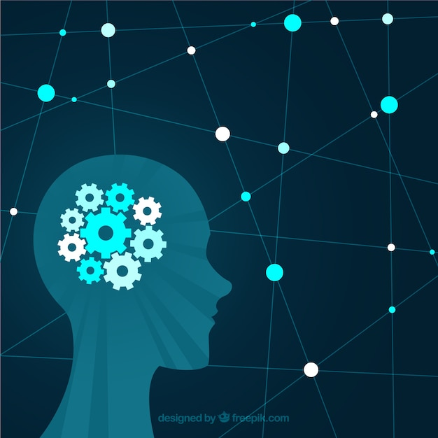 Conceito moderno de saúde mental com design plano Vetor grátis