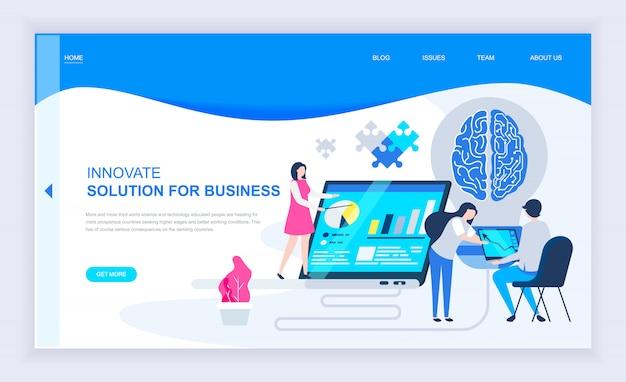 Conceito moderno design plano de inovação empresarial Vetor Premium