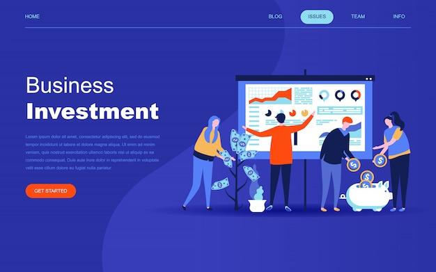 Conceito moderno design plano de investimento empresarial Vetor Premium