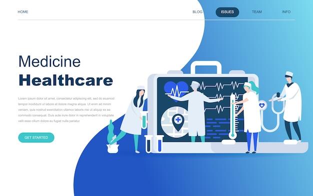 Conceito moderno design plano de medicina on-line Vetor Premium