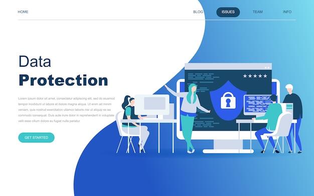 Conceito moderno design plano de proteção de dados Vetor Premium