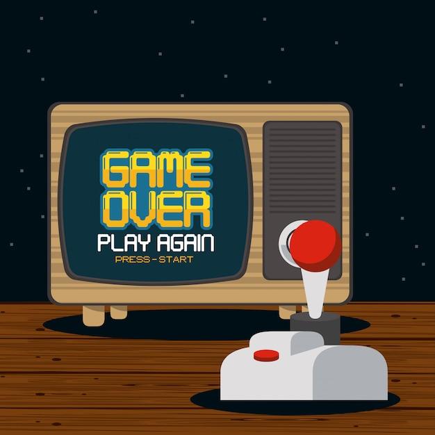 Conceito pixelado de videogame Vetor Premium