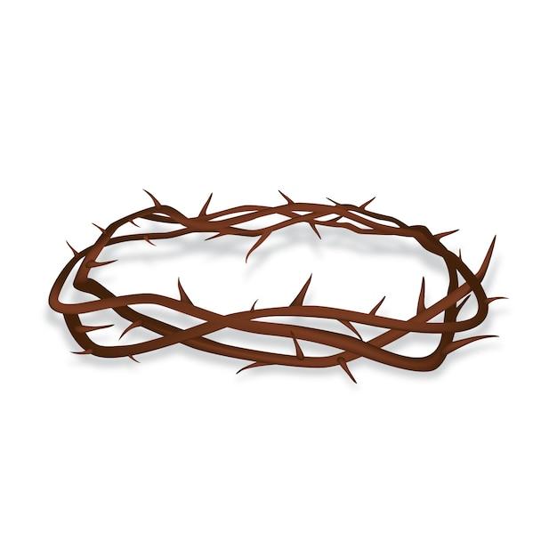 Conceito realista de coroa de espinhos Vetor grátis
