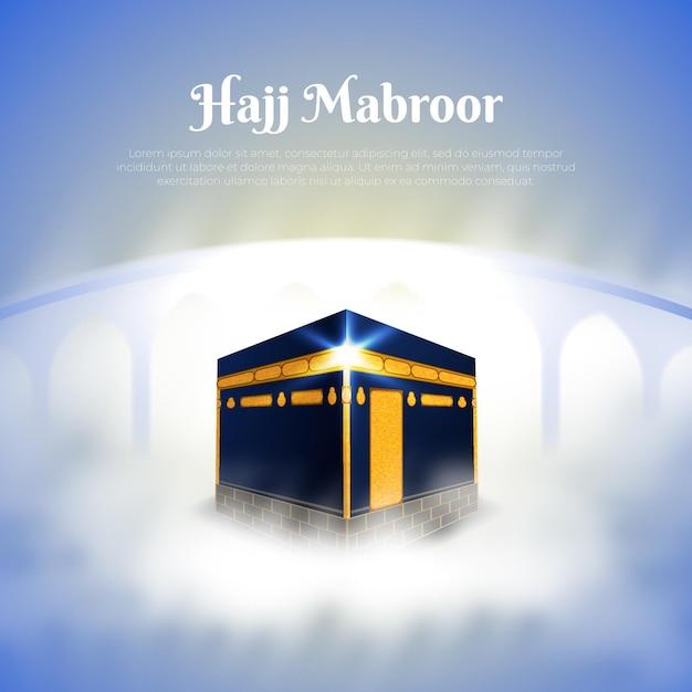 Conceito realista de haji de peregrinação islâmica Vetor grátis